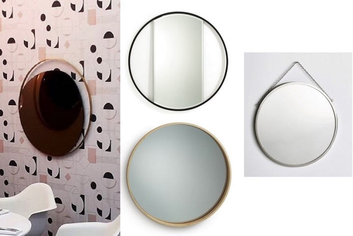 Les plus jolis miroirs ronds design s lection le blog for Deco miroir rond