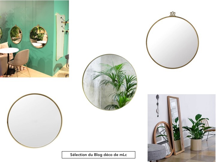 Les plus jolis miroirs ronds design s lection le blog for Miroir rond design