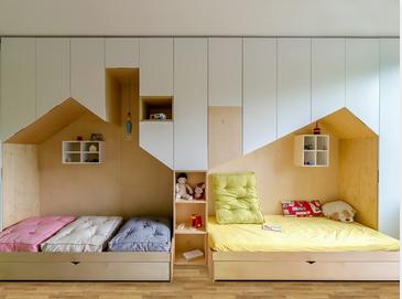 des mini maisons comme lit cabane et armoire int gr e pour enfant le blog d co de mlc. Black Bedroom Furniture Sets. Home Design Ideas