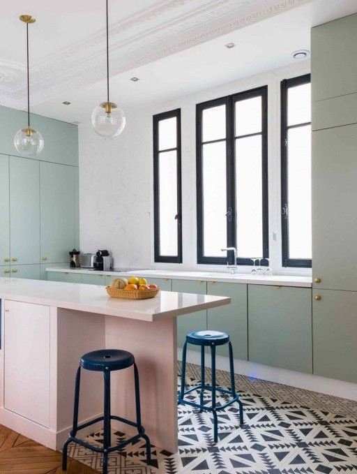 une jolie couleur vert d 39 eau pour la cuisine le blog. Black Bedroom Furniture Sets. Home Design Ideas