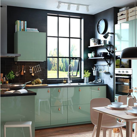 une jolie couleur vert d 39 eau pour la cuisine le blog d co de mlc. Black Bedroom Furniture Sets. Home Design Ideas