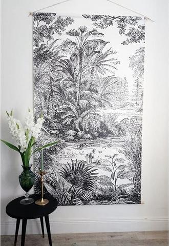 decoration-murale-tropicale-tableau-noir-et-blanc-vintage - Le Blog on
