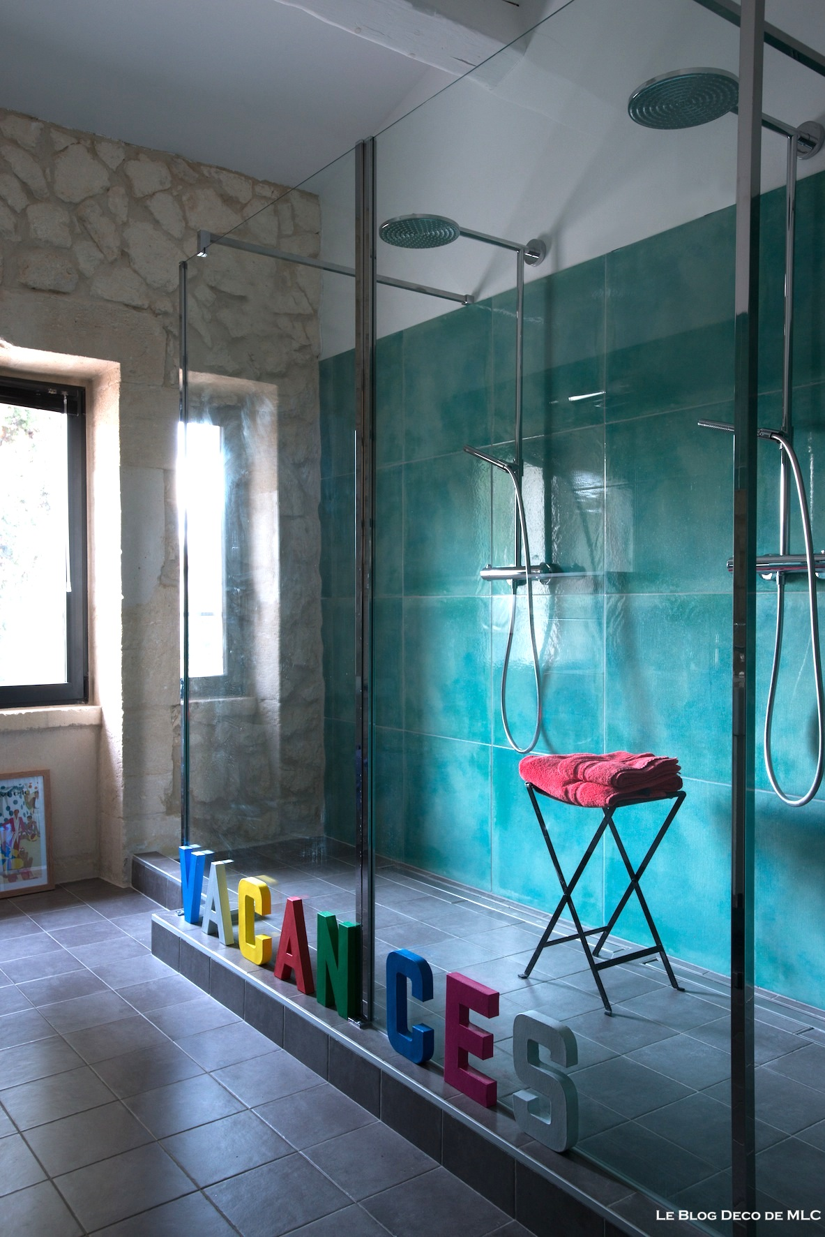 salle de bain noir et turquoise - salle de bain douche l 39 italienne s lection lavabo