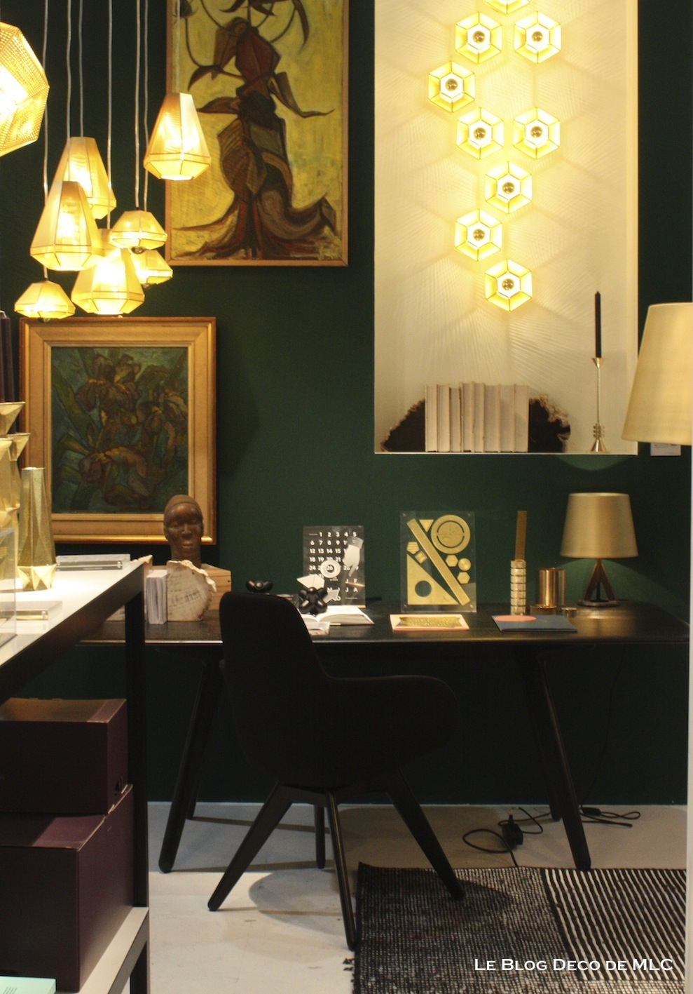 mur vert meraude et ses associations dans ma d co le blog d co de mlc. Black Bedroom Furniture Sets. Home Design Ideas