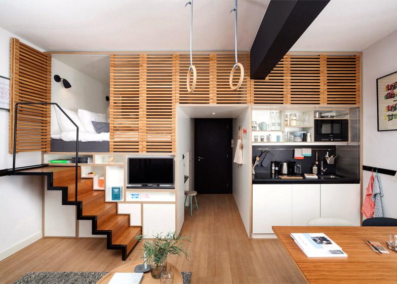 Studio - un aménagement moderne et bien pensé