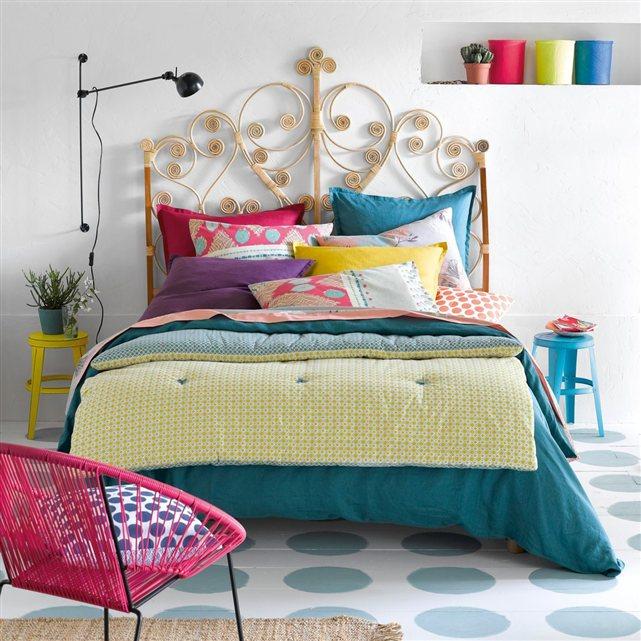 décoration Chambre tête de lit osier