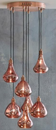 luminaire cuivre nouveauté suspension