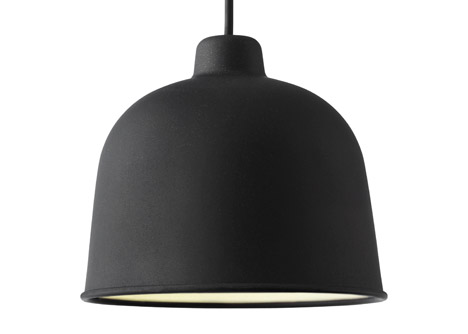 luminaire suspension bambou noir Muuto