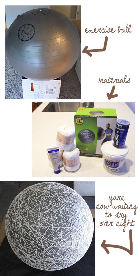 DIY suspension boule blanche XXL madebygirl