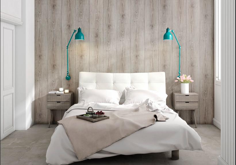 tete de lit bois decor mural Faus