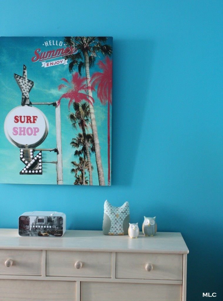 tableau-chambre-fille-ado-turquoise