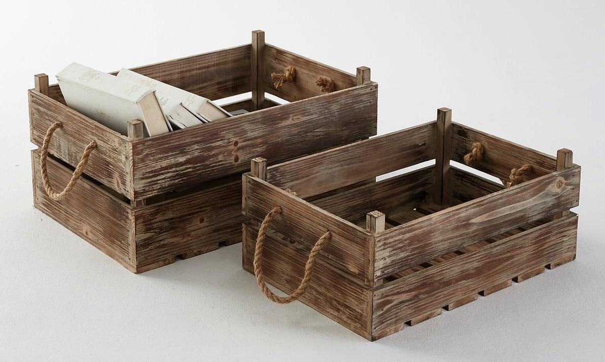 Cagette en bois les recycler et détourner en meuble déco