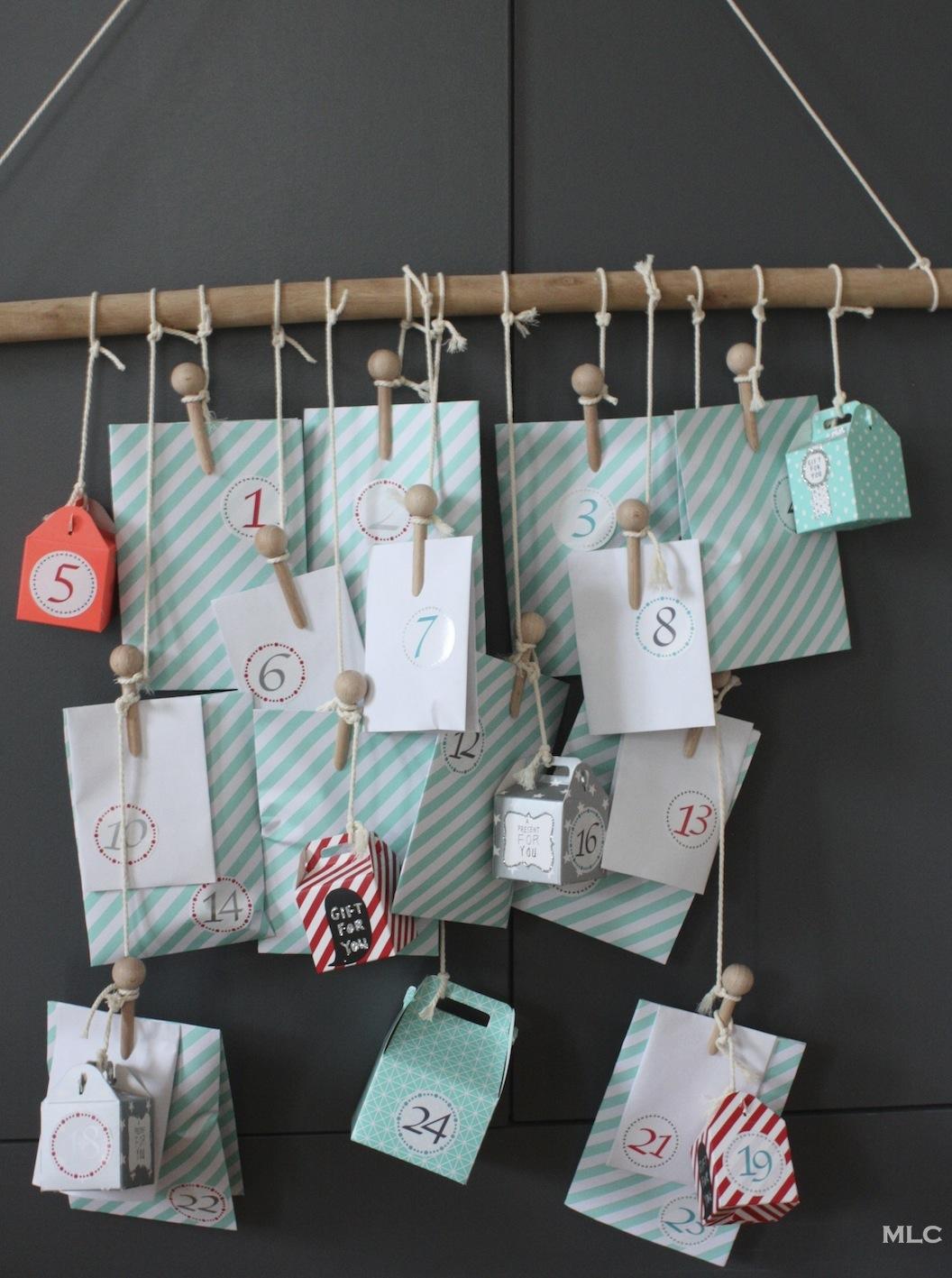 idée cadeau pour joli calendrier de l'avent fait maison *Blog déco MLC