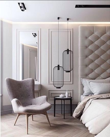 la lampe de chevet se place en suspension dans la chambre le blog d co de mlc. Black Bedroom Furniture Sets. Home Design Ideas