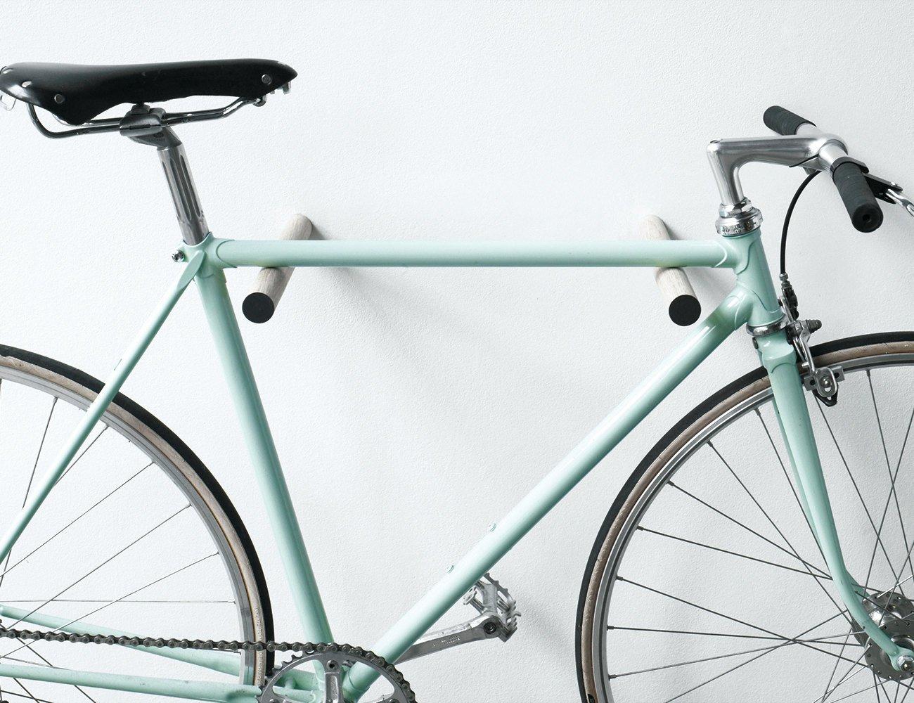 Un joli porte-vélo pour accrocher son vélo au mur - c'est déco