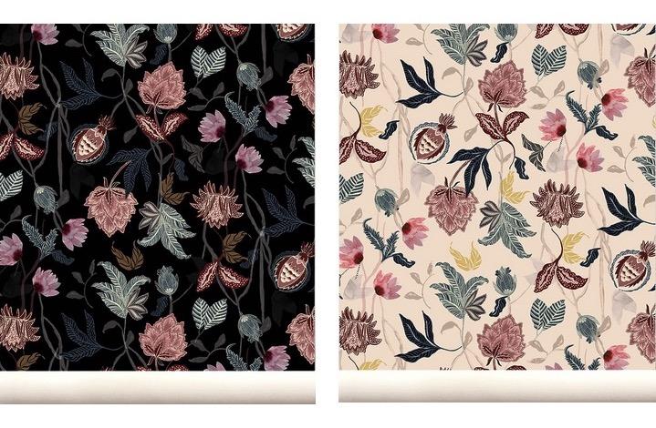 Le Papier Peint Fleuri De Marie Sixtine Le Blog Deco De Mlc